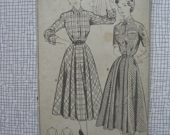 """1950s Dress - 34"""" Bust - Style 383 Sewing Pattern"""