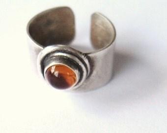 Citrine EarGem ear cuff, gemstone ear cuff, sterling earring, cuff earring wih Citrine stone