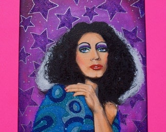 Glitter Holly Woodlawn Original Painting