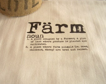Farm  Kitchen Towel, Rustic Farm Towel