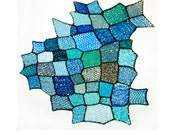 Blue Sky Patch Asymmetrical Tapestry Wall Hanging