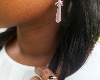 7.5 US Size Sterling Silver Faceted Melanite Black Garnet Ring / Stackable / Black / for her / all US sizes