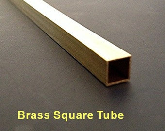 """Brass Square Tubes 12"""" Your Choice of Diameter"""