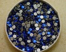 36pc  5mm Sapphire Swarovski Flatback Smooth Cabochon Rhinestones - Rare Article 2090/4 1st Quality genuine Swarovski - royal blue