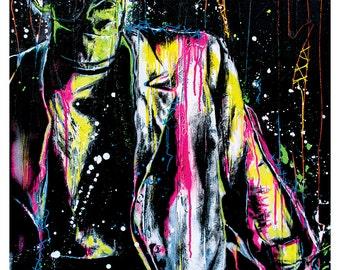 "18 x 24""  Art Print Poster- Frankenstein's Monster - Classic Monster Retro Horror Vintage  Rockabilly Gothic Halloween  Pop Art C"