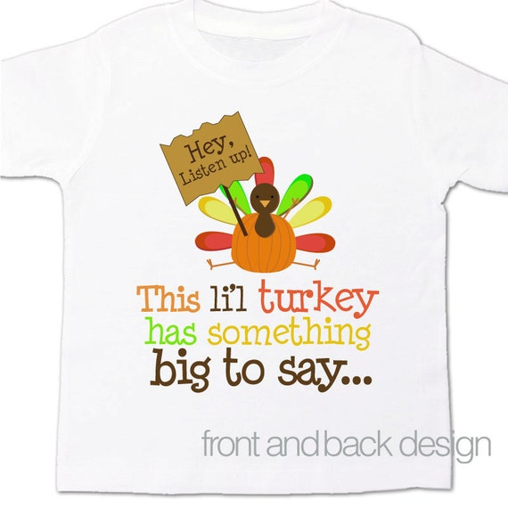 Big Brother thanksgiving personalized shirt- big brother to be pregnancy announcement FRONT and BACK
