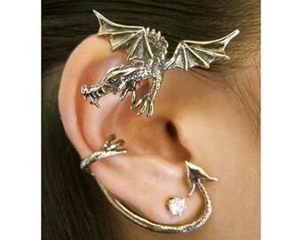 Dragon Ear Wrap Dragon Ear Cuff Game of Thrones Inspired Jewelry Guardian Dragon Earwrap Bronze Dragon Jewelry Dragon Earring Dragon Jewelry