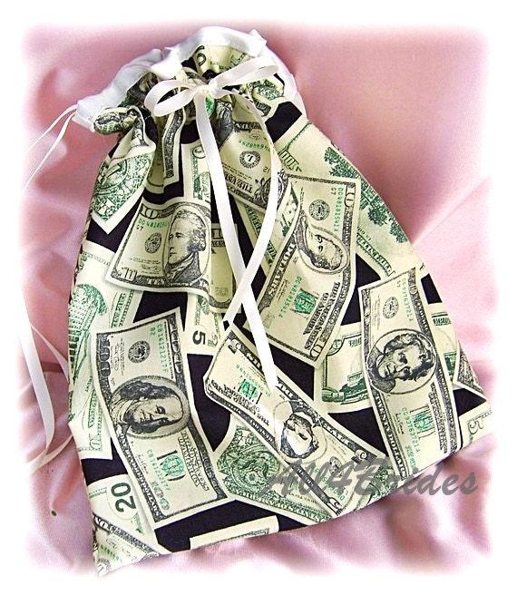 Wedding dance drawstring bag, money dance bag, bridal wedding accessories
