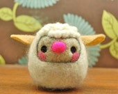 Needle Felted Cashmere Wool Spring Lamb Toy Made to Order