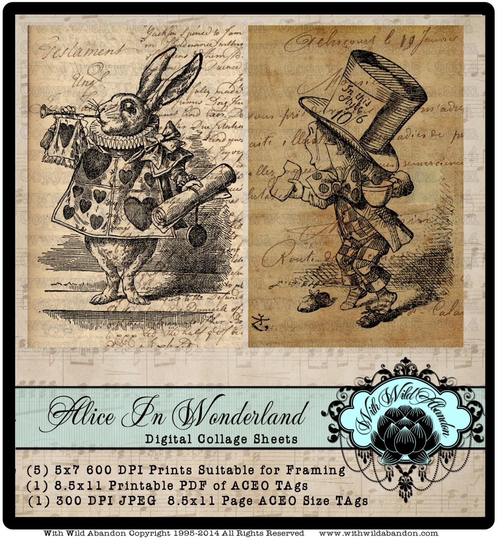 March Hare Alice In Wonderland: Alice In Wonderland March Hare White Rabbit Mad Hatter