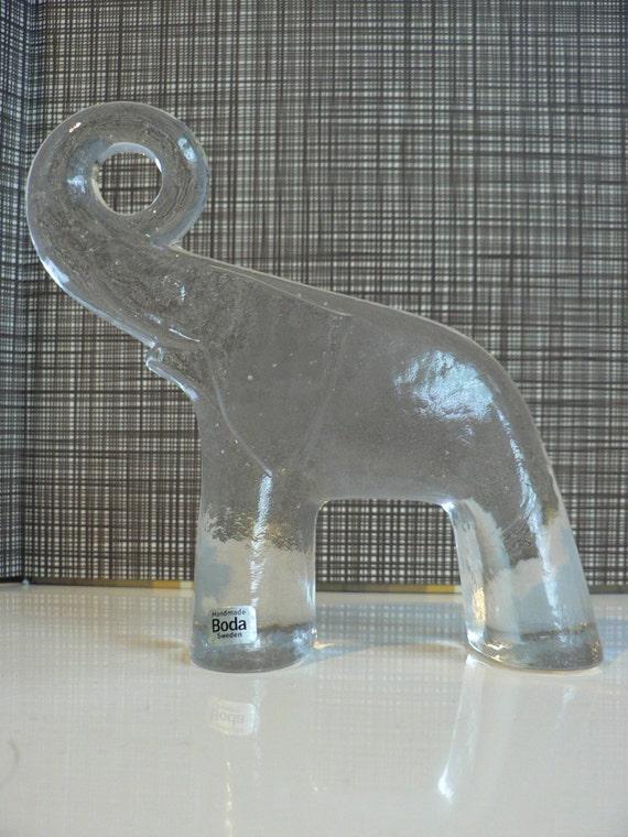 vintage kosta boda schweden elefant glas figur zoo serie mid. Black Bedroom Furniture Sets. Home Design Ideas