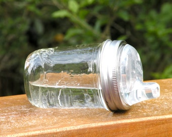 Mason Jar Glass Sippy cup