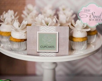 CHEVRON and SUCCULENT Printable Tent Labels or Place Cards