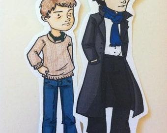 Sherlock Stickers Sherlock and Watson