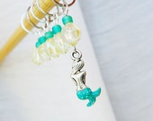 Little Mermaid - Fairy Tale Series - Five Handmade Stitch Markers - Fits 6.0mm (10 US) To 10.0mm (15 US) - Limited Edition