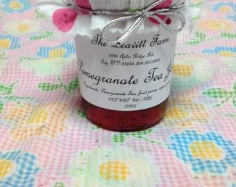 Pomegranate Tea Jelly,  8 oz Regular or Sugar Free