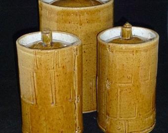 Honey Blocks Canister Set