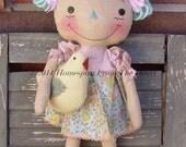 Raggedy Ann Doll Spring Chicks pattern, raggedy doll epattern, wool chick pattern