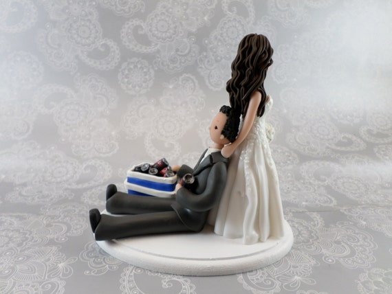 wedding cake toppers bride dragging groom dragging groom personalized wedding cake topper by 26420