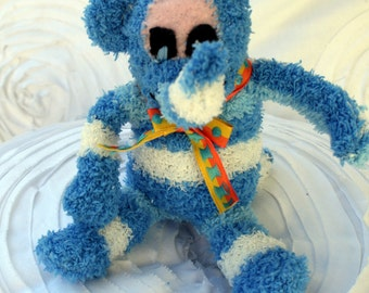 Sock Elephant Toy, Plush Elephant, Sock Creature,