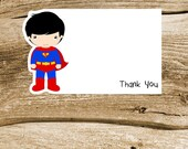 Superhero Friends Party Collection - Set of 8 Superman Thank You Cards by The Birthday House