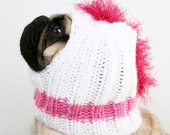 Punk Rock Mohawk Dog Hat - Pug Hat - Rock Star Costume - Dog Clothing - Pet Apparel
