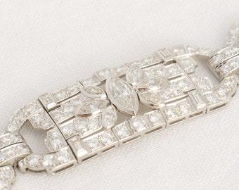 Vintage Art Deco Diamond and Platinum Bracelet
