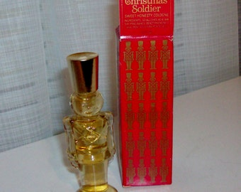 NEW Christmas Soldier Decanter With Cologne by Avon (code d)