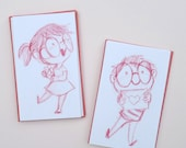 Special Delivery Mini Cards - Set of 4 -  valentines day // anniversary // love // wedding