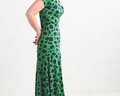 Green Circle Print Dress