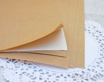 "Brown Kraft Sticker Sheets - Kraft Stickers sheets for your DIY projects 8.5"" x 11"""