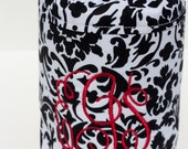 NEW black is the new black monogrammed Lens Luggage - large