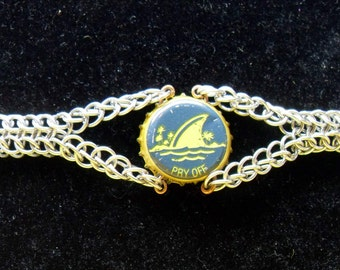 Chainmaille Recycled Bottle Cap Bracelet