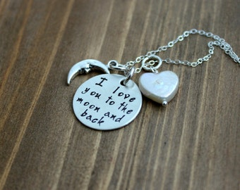 Items Similar To I Love You To The Moon And Back Hand