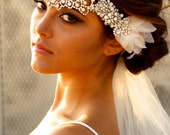 Opal Crystal Lace Headpiece- Jolene