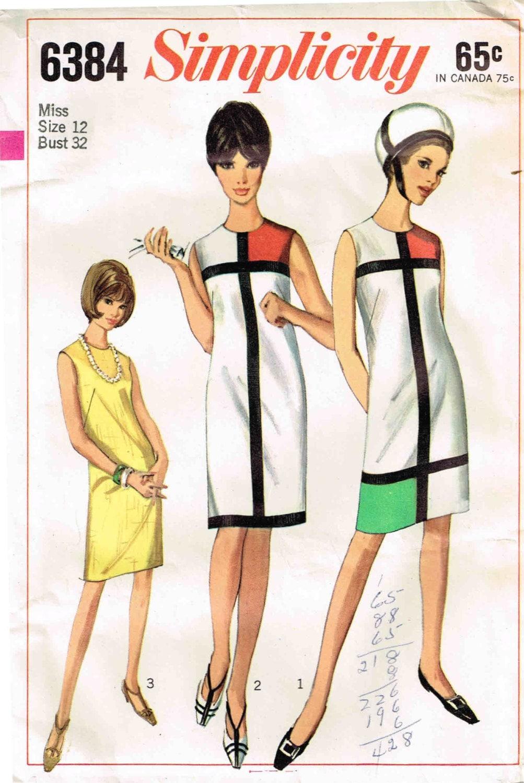 Vielseitige 1960er Jahre Kleid Schnittmuster McCalls 7439
