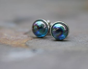 Tiny Rainbow Topaz Earrings Studs