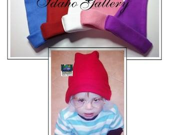 On Sale for Halloween Winter Fleece Hat Kids Santa Elf Hat Smurf Smee Boys Girls