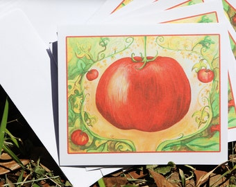 Creole Tomato notecards with envelopes Set of 5