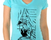 book tshirt -  book shirt - womens tshirts - book lover - book gift - librarian gift - book worm - NOTHING Like A RAINY DAY - sport vneck