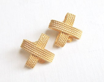 Rope Earrings X Kiss Gold Tone Metal Clip On