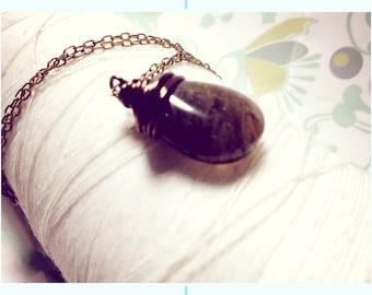 Labradorite - uniquely Canadian gemstone / labradorite pendant / Canadian jewelry / dark green necklace / labradorite necklace
