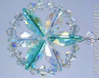 M W Swarovski Crystal Circle Star Of Life By Lilliheartdesigns