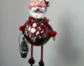 Santa Claus Folk Art Christmas Collectible Art Doll - Ho Ho Man