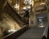 Paris Photography, Opera House Grand Staircase, Paris Opera House Stairs Architecture, Paris Opera House Wall Art, Paris French Architecture