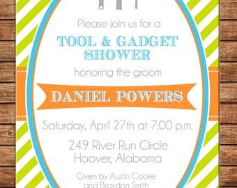 Tool and Gadget Groom Wedding Bridal Shower Party Toolbox Birthday Invitation - DIGITAL FILE