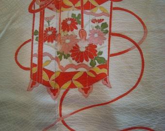 SALE Lovely Japanese Kimono Spring Drum Lanterns BEAUTIFUL