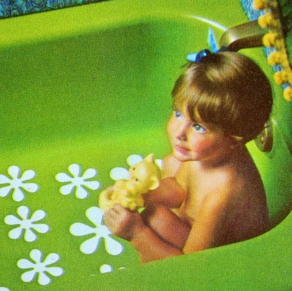 Rubbermaid Daisy Bathtub Appliques 70s Sealed Set Of 16