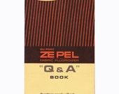 1960s DuPont Zepel pamphlet fabric fluoridizer stain resistant repellent Du Pont chemical company retro textile ephemera - Free USA shipping