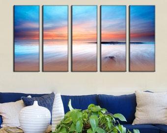Canvas Prints - Beach Canvas Print - Sunset Canvas Art - Beach Canvas Photo Prints - Framed Ready to Hang - Seascape Prints